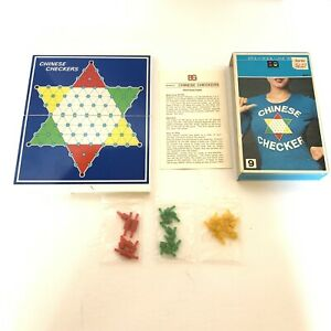 Epoch Book Game Series Magnetic Chinese Checkers Vintage Set Complete