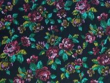 Embroidery Effect Roses 100% Cotton fabric by the half metre