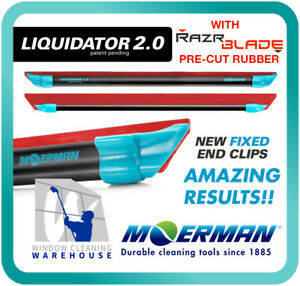 Moerman Liquidator 2.0 Channel Combo with RazrBLADE Red Rubber Squeegee Pre Cut
