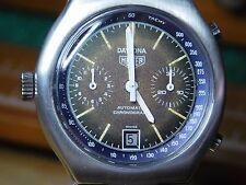 Heuer 110.203B Daytona Calibre 12 Automatic Chronograph Rare Tropical Dial
