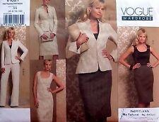 1021 Vogue Misses Dress Jacket Top Skirt Pattern sz 6-12  1992 UNCUT
