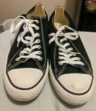 CONVERSE ALL STAR Chuck Taylor Unisex Canvas Low Top Shoes US Size 10 Black