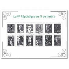 """FEUILLET F4781 """"LA Vè RÉPUBLIQUE AU FIL DU TIMBRE"""" (2013)"""