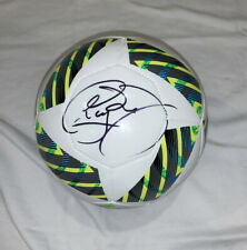 Neymar signed 2016 Olympics soccer ball football Brazil World Cup PSG Proof!