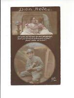 World War One French Postcard France WW1 Romantic Post Card