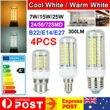 4PCS LED Corn Bulb E27 E14 B22 7W 12W 15W 20W 25W 5730SMD Globe Lamp Spot Light