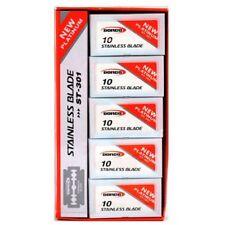 100 Dorco Red New Platinum Stainless ST301 Double Edge Razor Blades