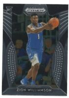 ZION WILLIAMSON 2019-20 PANINI PRIZM BLUE JERSEY ROOKIE RC #64 MINT & CENTERED