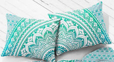 Home Handmade 18X28 Pillow Cushion Cover Cotton Mandala Set of 2 Indian New Gift