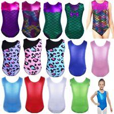 Children Shiny Gymnastics Leotards Girls Ballet Dance Sparkle Bodysuit Costume