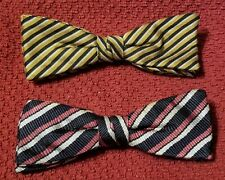 Bow Ties clip-on Clipper Rust Resistant Vintage 1940s ? 2 for 1 price