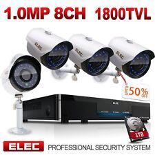 ELEC 8CH 1800TVL 960H HDMI DVR CCTV In/Outdoor Home Security Camera System 1TB
