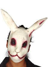 Mens Halloween Zombie Scary Evil White Rabbit Mask