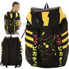 Pokemon GO PIKACHU Canvas Rucksack School Backpack Book Bag Pack Laptop Sleeve