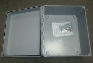 New Hoffman A12106CHSCFG Type 4X 12x10x6 Wall Mount Junction Box PN#92699
