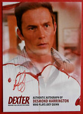 DEXTER - Series 5 & 6 - DESMOND HARRINGTON Autograph Card - ADH1 - RED VARIANT