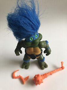 1993 TMNT Teenage Mutant Ninja Turtles Troll Leo Doll Leonardo Near Complete