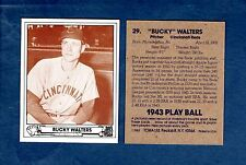 1943 Play Ball: #29 Bucky Walters, rottöne (1983 tcma Gedenk Karte) 6X A.S.