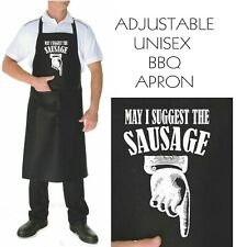 Funny Apron May I suggest the Sausage  bbq kitchen smoker adjustable  mens apron