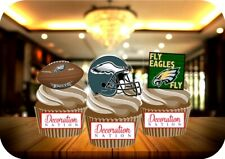 American Football Philadelphia Eagles Mix 12 Edible STANDUP Cake Topper Sport