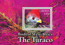 Liberia-2016 West Africa (Turaco) Birds on Stamps Souvenir Sheet MNH