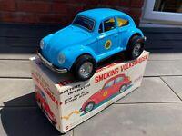 Aoshin Smoking Volkswagen Beetle In Its Original Box - Near Mint Vintage Rare
