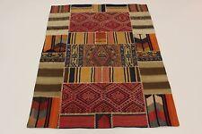 nomades Kelim patchwork Used Look pièce unique tapis de Perse Tapis d'Orient