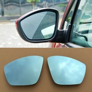 2pcs Power Heated w/Turn Signal Side View Mirror Blue Glasses For Peugeot 307