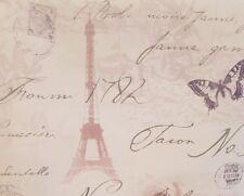 LUXUS HOLDEN Kalligraphie Paris Postkarte Eiffelturm Tapete Schmetterling