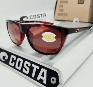 """COSTA DEL MAR rose tortoise/copper """"CHEECA"""" POLARIZED 580P sunglasses NEW IN BOX"""