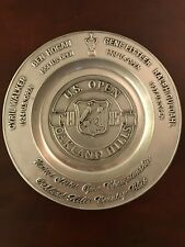 1985 U.S. Open Golf Championship AT OAKLAND HILLS PEWTER 12INCH PLATE BEN HOGAN