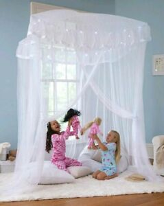 Heartsongs Sparkling Lights Light-Up Bed Canopy For Twin Full Or Queen OPEN BOX