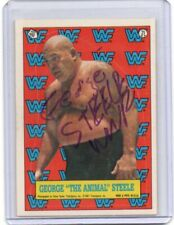 """GEORGE """"THE ANIMAL"""" STEELE 1987 TOPPS AUTOGRAPH CARD HAND SIGNED RARE! SUPERSTAR"""