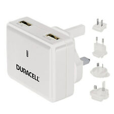 Duracell Dual USB Mains Wall Charger  DR6001W - White New Uk