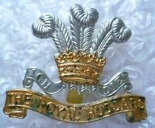 Badge- The Royal Hussars Prince Of Wale's Cap Badge (Bi-Metal, Genuine*))
