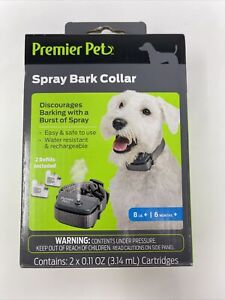 Premier Pet Spray Bark Collar 8lb.+ 6 Months + 2 Refills Cartridges GBC00-16997