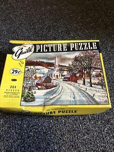 "VINTAGE GUILD PICTURE PUZZLE ""THE CHURCH ROAD"""