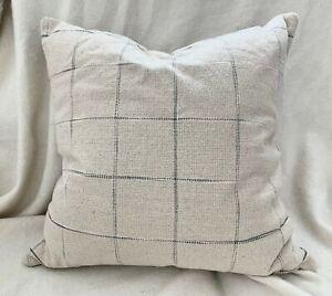 Studio McGee & Threshold Target Windowpane Throw Pillow Cream Blue 24 x 24