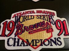 2  World Series Champions 1991 Patch Jersey Sleeve Atlanta Braves RARE Twins Won
