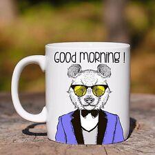 Tazza ceramica PANDA mod2 GOOD MORNING ANIMAL HIPSTER ceramic mug