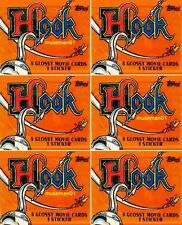 1991 HOOK MOVIE TRADING CARDS ~ 12 SEALED PACKS ~ Robin Williams ~ @LOOK@