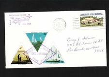 Postally Used LOCAL POST 3 Triangles Rattlesnake Island Port Clinton OH 1974 b m
