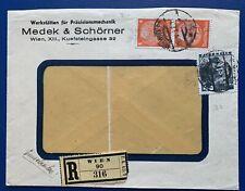 Briefmarken, Brief/Beleg, Deutsches Reich/Österreich, Reco Wien,1938,siehe Fotos