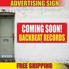 Coming Soon! Backbeat Records Advertising Banner Vinyl Mesh Decal Sign Now Open