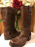 Frye Women's Brown Distressed Harness Western Boots Size 6.5 (BOTA1500