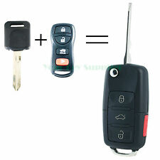 New Complete Flip Key Fob Keyless Remote Transponder Key