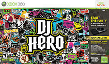 DJ Hero (Microsoft Xbox 360, 2009) Turntable Kit, Video Game + manuals