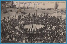 CPA: ALGER - La musique des Zouaves sur la place du gouvernement