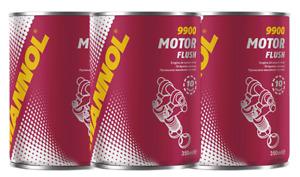 3X MANNOL - MOTOR FLUSH CAR ENGINE DEEP CLEANER REMOVES GREASE DIRT GRIME 350ML