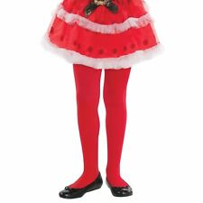 Girls Christmas Party Kids Tights RED Santa's Little Elf Helper (Child S/M) NEW